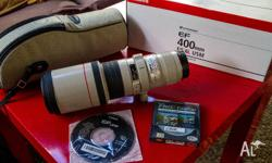 Near new Canon EF 400mm f5.6 L USM Lens, I have only