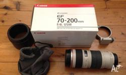 Canon EF 70-200mm f/4L USM Lens Camera Located in Surry