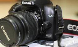 CANON EOS 1000D DIGITAL CAMERA 18-5 as new, only used