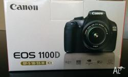 Contents of Canon EOS 1100D Kit: - Digital Camera EOS