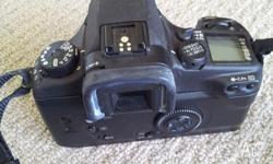 This camera, Canon EOS 30v film camera on a couple of