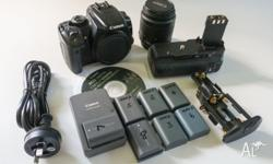 Canon EOS 400D with Battery Grip, 8 batteries, (3