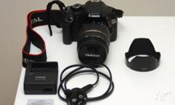 CANON EOS 550D DSLR WITH TAMRON 18-200 LENS IN