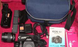 EOS 5D classic with Battery Grip, lens, bag and more.