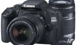 Canon EOS 600D Digital SLR Camera 600DTKIS 18-55mm IS +