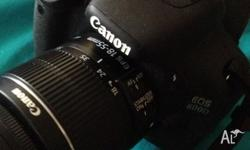 Canon EOS 600D with 18-55mm Lens inculdes 1 battery and