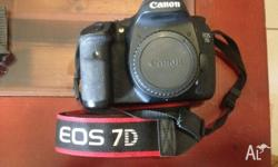 Secondhand canon 7D body for sale. Selling due to