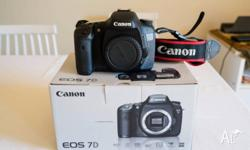 Canon EOS 7D Camera with box and everything that