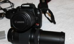 CLEAN CANON CAMERA 75-300MM ZOOM LENS 18-55 MM LENS