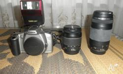 SLR film camera (i.e. not digital) with a separate