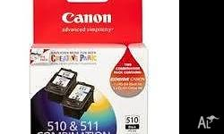 Canon Genuine PG-510 & CL-511 Twin Combination Pack Ink