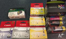 9 Canon ink jet ink cartridges - only $5 each! 3