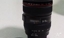 CANON 24 - 105L lens in perfect condition and tack