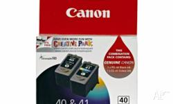 Canon Pixma 40 & 41 combination pack ink new, un-used