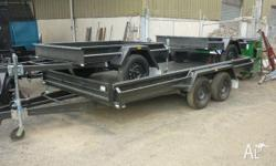 Car Carrier 14x6' Full Checkerplate, Winch Post,