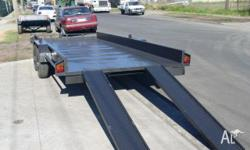 "Car Carrier Trailer 14x6'6"" - Includes ramp, 2010, Grey"