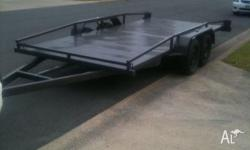 CAR CARRIERS DUEL AXEL TRAILER EXTENED DRAW BAR, 2011,