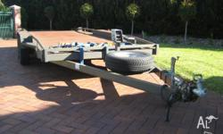 Heavy duty dual axle car trailer , two years old with