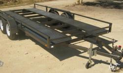 NEW Car Trailer, Floor 4.85m long X 1.94m wide, overall