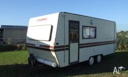 Caravan - Coachman Caravan Front Kitchen, 1985, Cream,