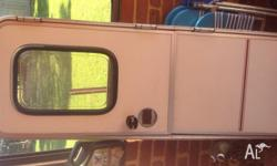 Caravan door 580 wide 1700 long with surround very good