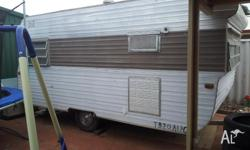 unlicensed 16ft caravan.. used as teenagers room.. good