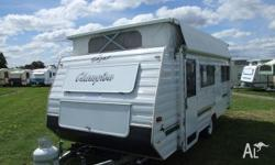 CARAVAN - GAZAL 15ft 6 CHAMPION, 2000, White, POP-TOP,