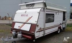 Caravan Regal Deluxe Comfort Tourer, 1998, Pop Top,