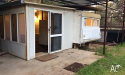 Clean tidy caravan suitable for onsite use with hard