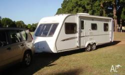 Swift 2008 European light weight luxury caravan, sleeps