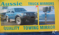 """Aussie"" brand towing mirrors for 4wd's, cars and vans"