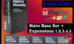 Cards Against Humanity Full Base Set + 123456 Expansion