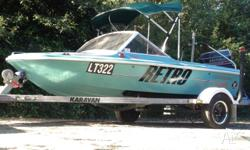 Caribbean colt 90hp 4.85mts. Great boat for ski fishing
