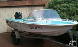 This boat is fibreglass and was last registered in 2005