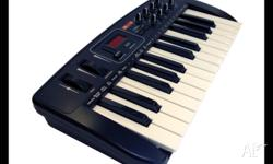 25 note, full size keys. 8 x MIDI-assignable control