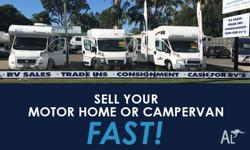 FREE Consignemt of your Motorhome or Campervan RVs No