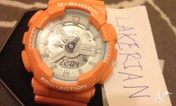 THIS IS BRAND NEW CASIO G-SHOCK GA110SG-4AJF SALMON