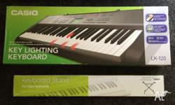 Casio LK-120 Keyboard and Stand. Great beginners