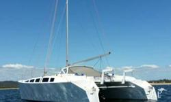 New Waller Coral Sea 35. Plywood fibreglass composite