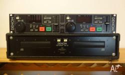 Denon 2 deck CD player Includes separate control unit.