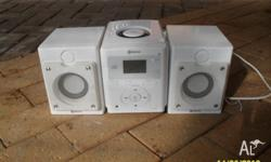 For sale is this CD player which also has a radio.