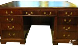 Beautifully crafted and rare Cedar Desk with inset