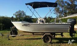14ft center console 30hp motor Good boat Boat and