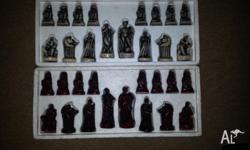 Greek theme chess set made by ceramic standard size