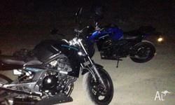 Two motorbikes for sale. CFMOTO 650NK. Both learner