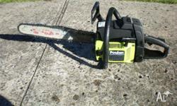 chainsaw 18'' pouland forester model 3300 55 cc motor