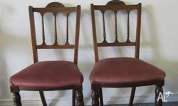 Chairs two antique, in good condition.