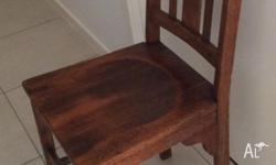Selling 4 Old solid timber Kitchen Chairs. In great