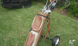 For sale is a set of golf clubs, mainly Jack Nickolas,