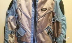 RJAYS Blue ladies motorbike Jacket for Sale. Hopefully